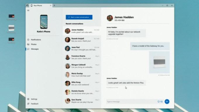 Windows 10'da SMS atma dönemi başlıyor