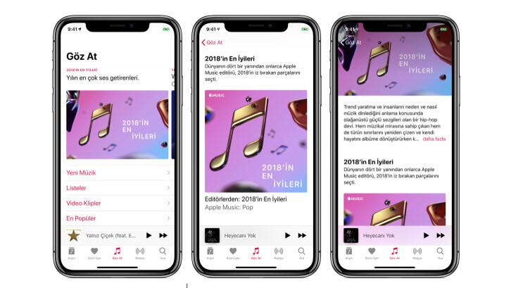 Apple Music'te bu yıl en çok dinlenen şarkılar
