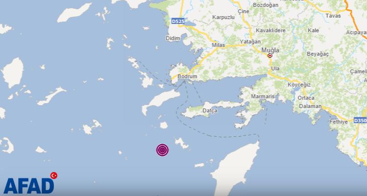 Son dakika... Muğla'nın Datça ilçesi açıklarında 4,4 büyüklüğünde deprem!
