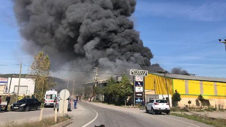 Son dakika: Sakarya'da fabrikada büyük yangın