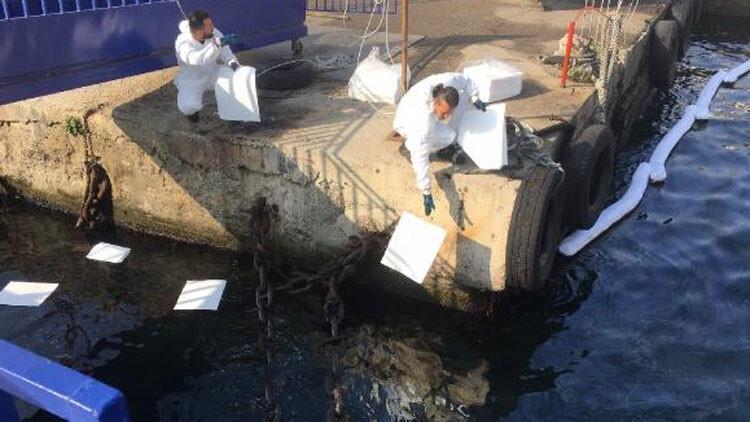 Darıca'da denizi kirleten gemi tespit edildi