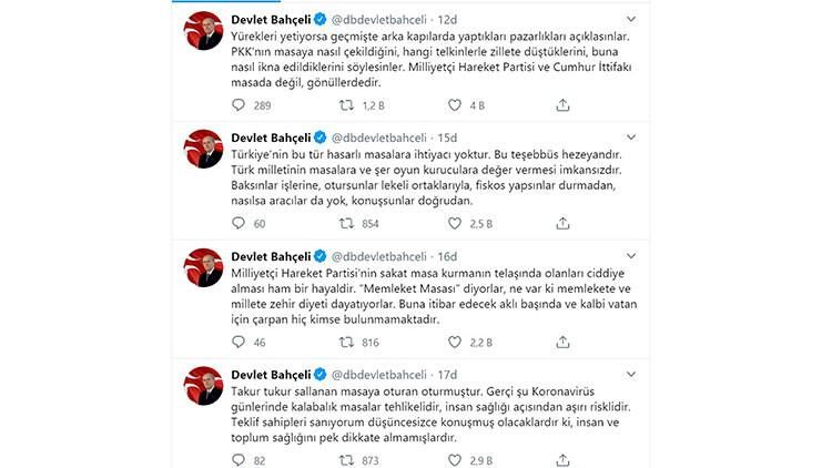 MHP Lideri Bahçeli'den 'memleket masası' açıklaması