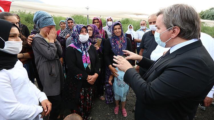 Aksaray'da duygulandıran diyalog! Ayşenur gözyaşlarını tutamadı