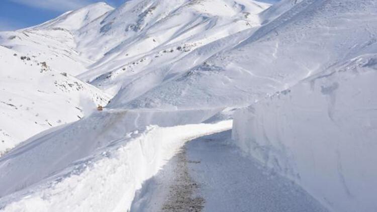 Bitlis'te 3,5 metre karla yoğun mücadele