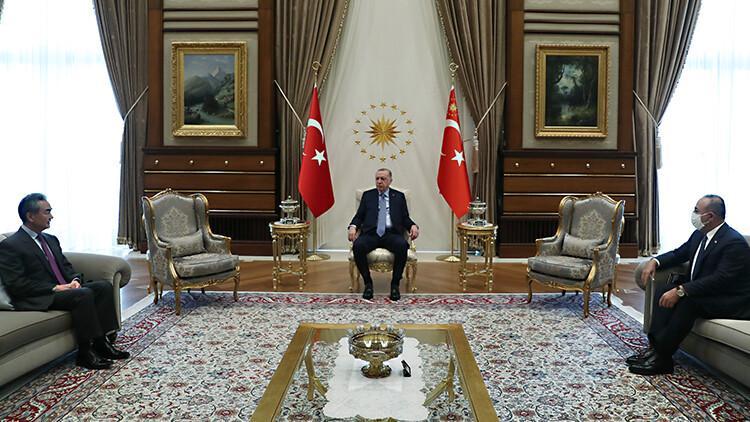 Cumhurbaşkanı Erdoğan, Çin Halk Cumhuriyeti Dışişleri Bakanı'nı kabul etti