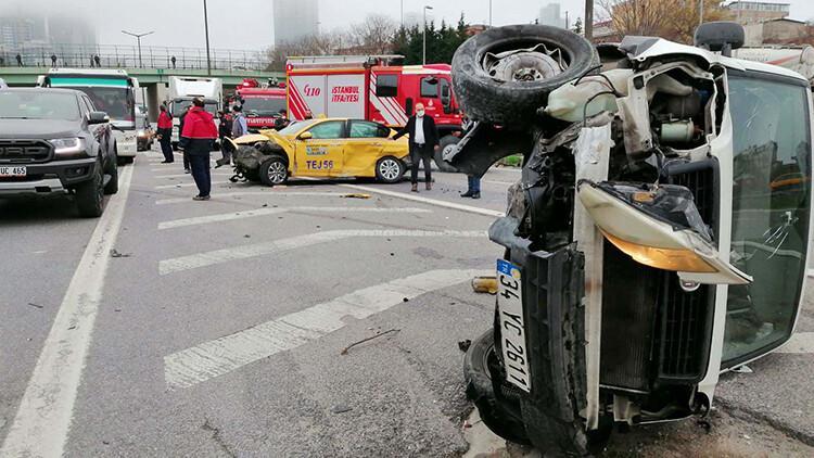 Ataşehir'de zincirleme kaza