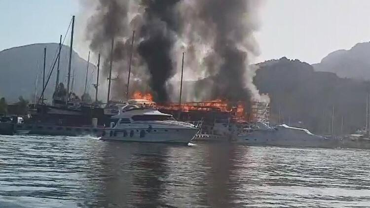 Son dakika... Marmaris'te orman yangını