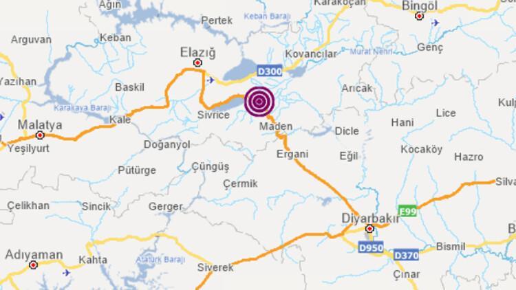 Son dakika... Elazığ'ın Maden ilçesinde 4.3'lük deprem