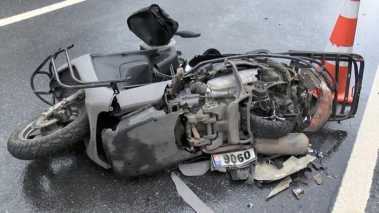 Sarıyer'de kaza! Motosikletli kurye hayatını kaybetti