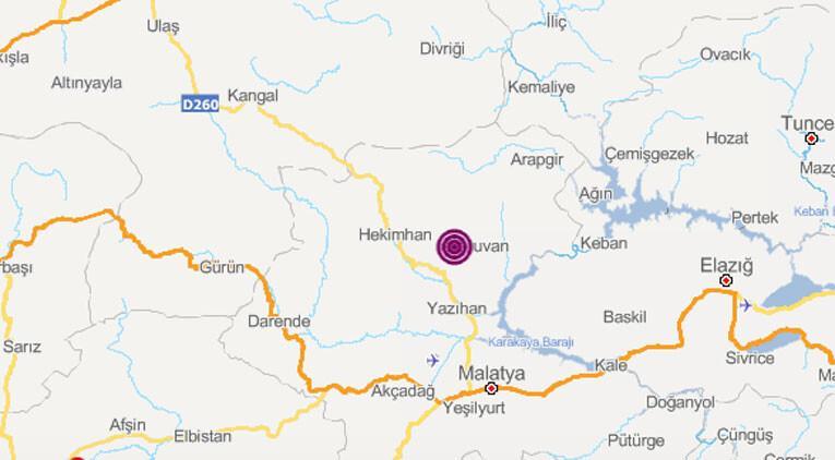 Son dakika... Malatya'da 4.0 büyüklüğünde deprem
