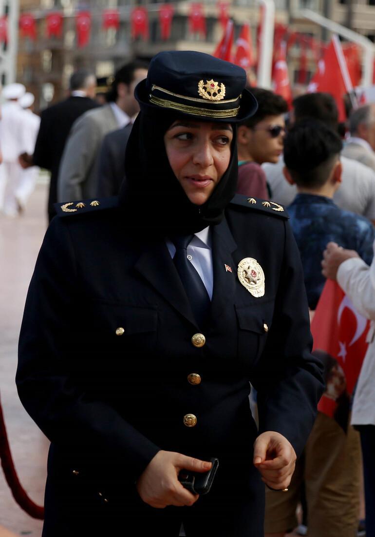 Taksim'deki törende bir ilk yaşandı