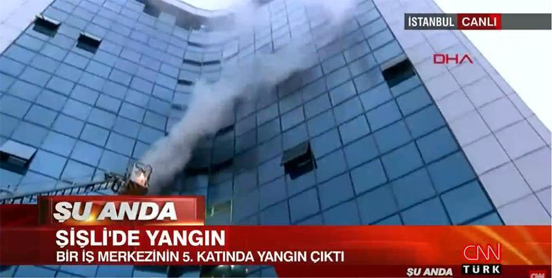 Son dakika: Şişli'deki iş merkezinde yangın paniği