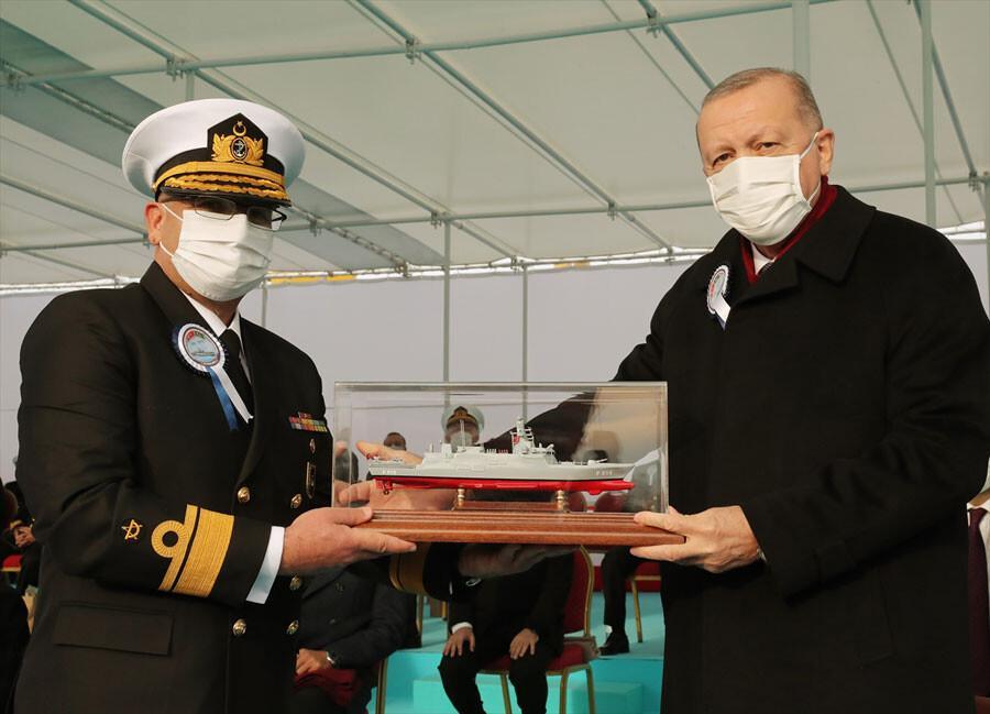 İlk milli fırkateyn suya indirildi... Cumhurbaşkanı Erdoğan'dan flaş açıklamalar